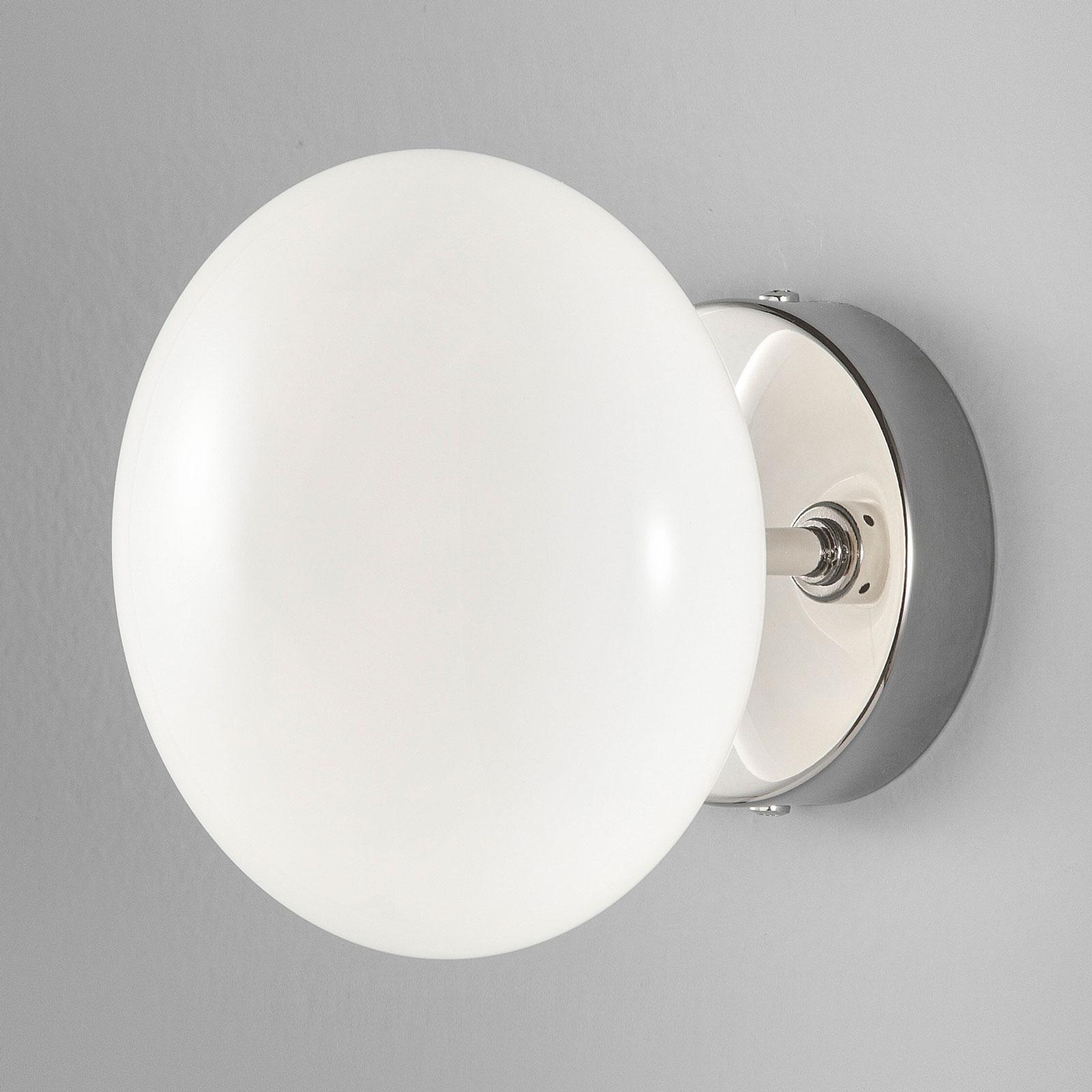 Vegglampe Dolce, krom/hvit skjerm