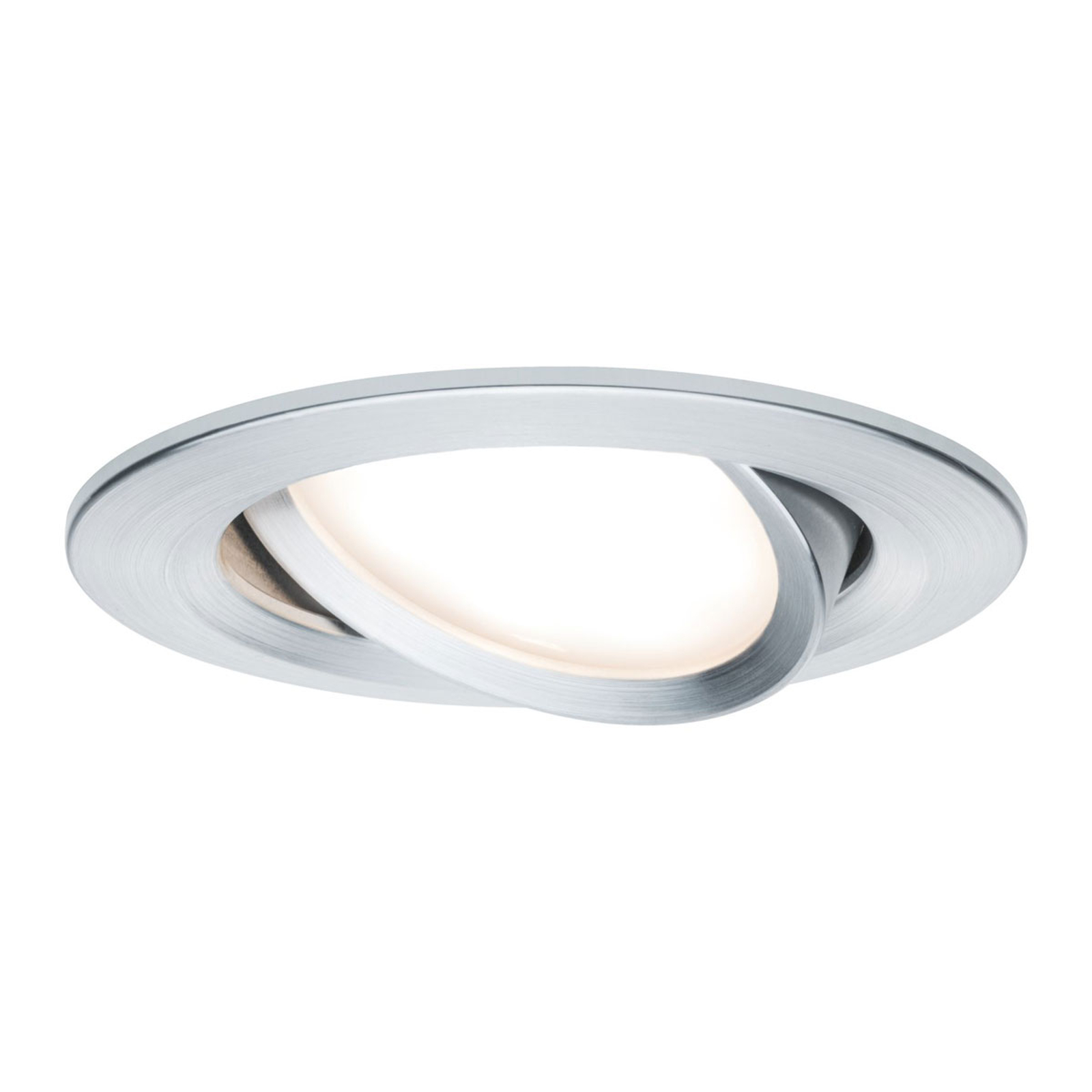 Paulmann 3er LED-Spot Slim Coin, schwenkbar, Alu