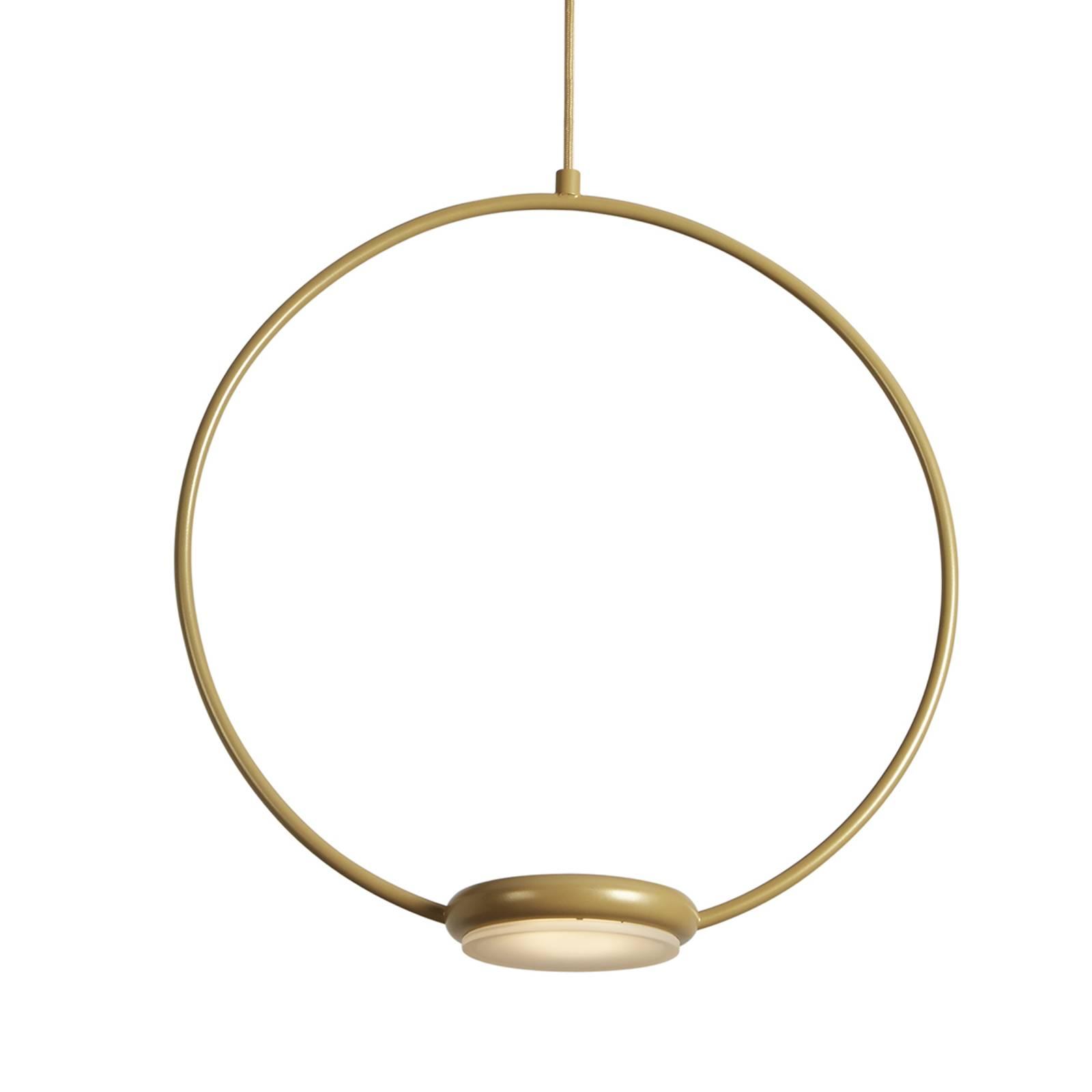Goldene LED-Hängeleuchte Odigiotto