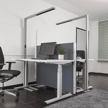 Lampadaire LED bureau, lumière variable et capteur