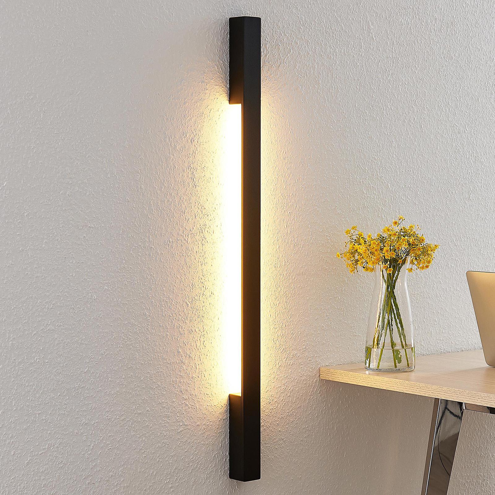 Arcchio Ivano LED-vegglampe, 91 cm, svart