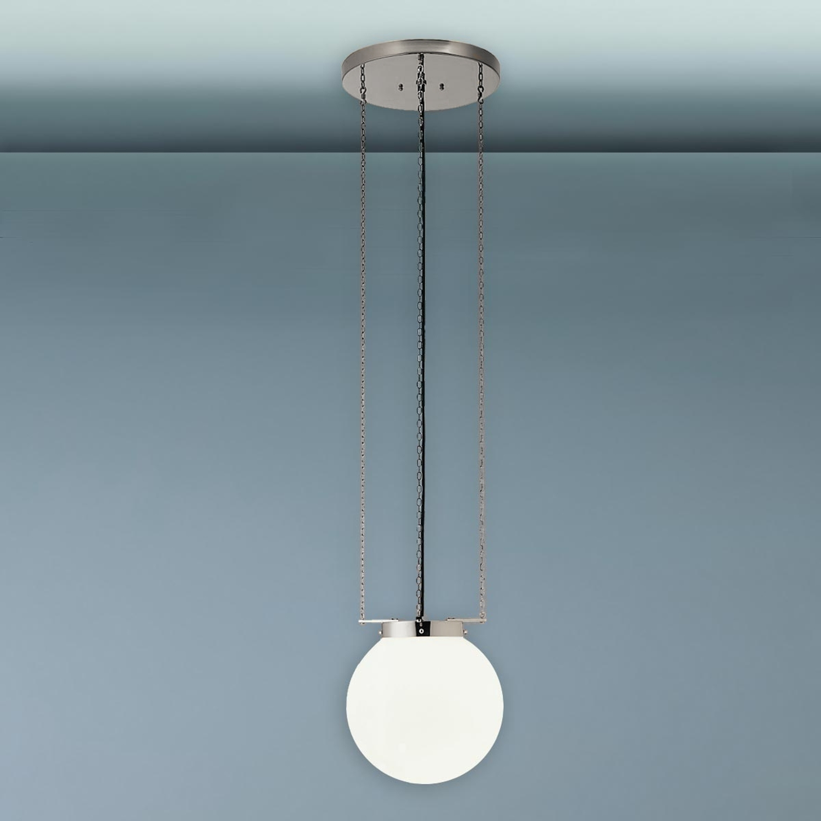 Picture of: Pendellampe I Bauhaus Stil Nikkel Lampegiganten Dk