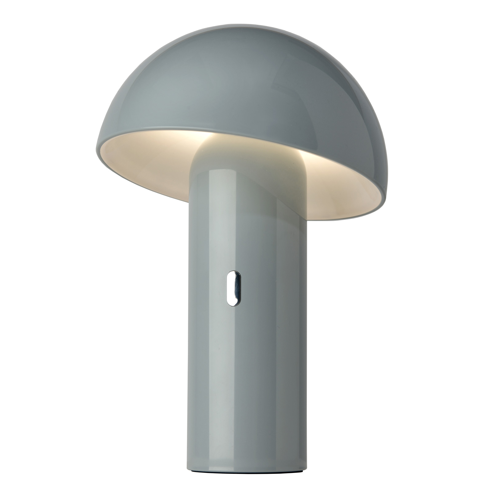 Lampada da tavolo LED Svamp a batteria, grigia