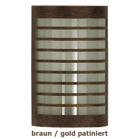 TERU vegglampe i brunt og gull