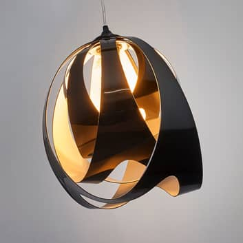 Moderna lampada a sospensione GOCCIA DI LUCE, nera