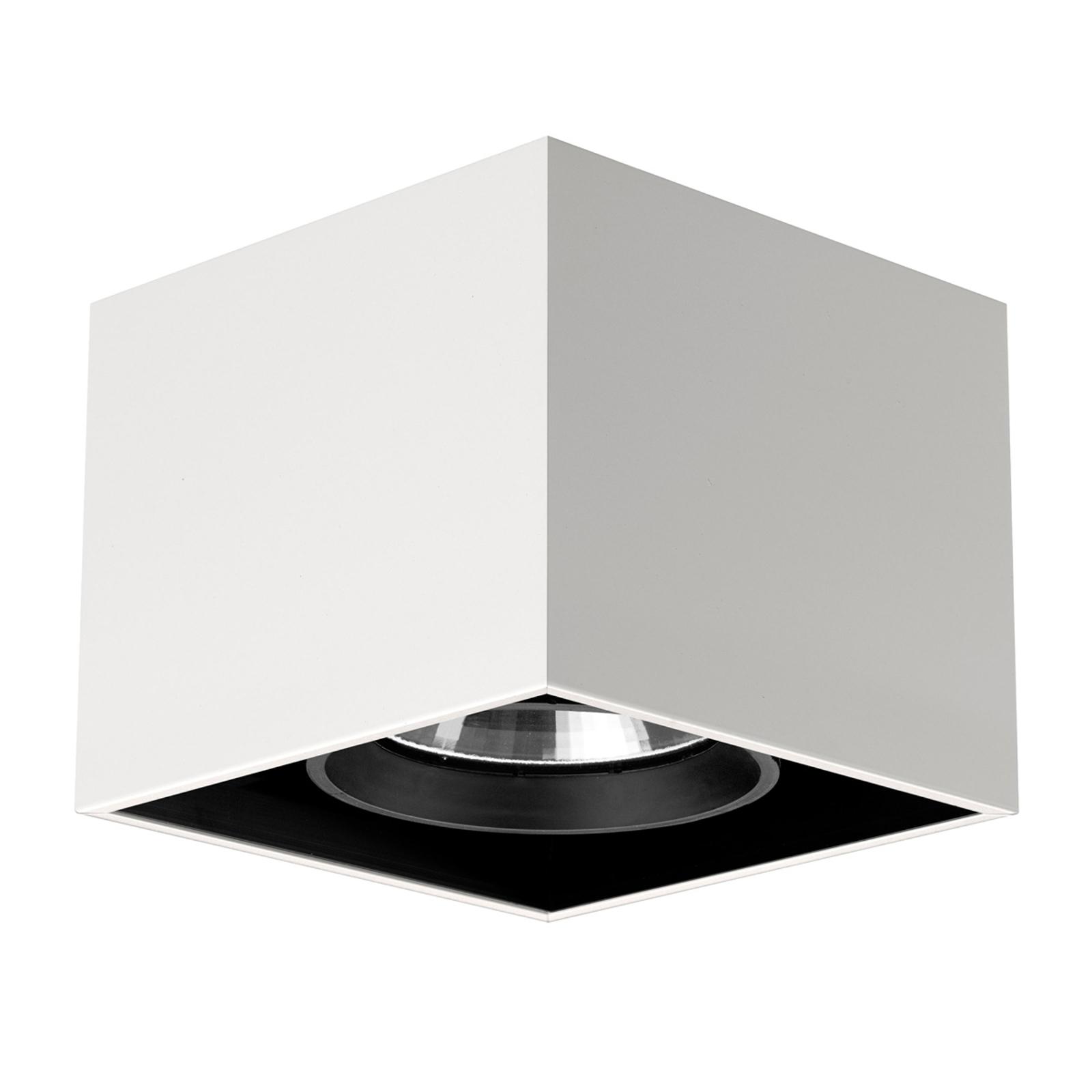 Hvit Compass Box - kvadratisk taklampe