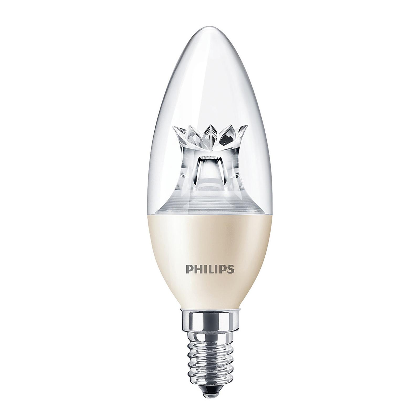 Ampoule flamme LED E14 8W B40 Candle DT CL DimTone