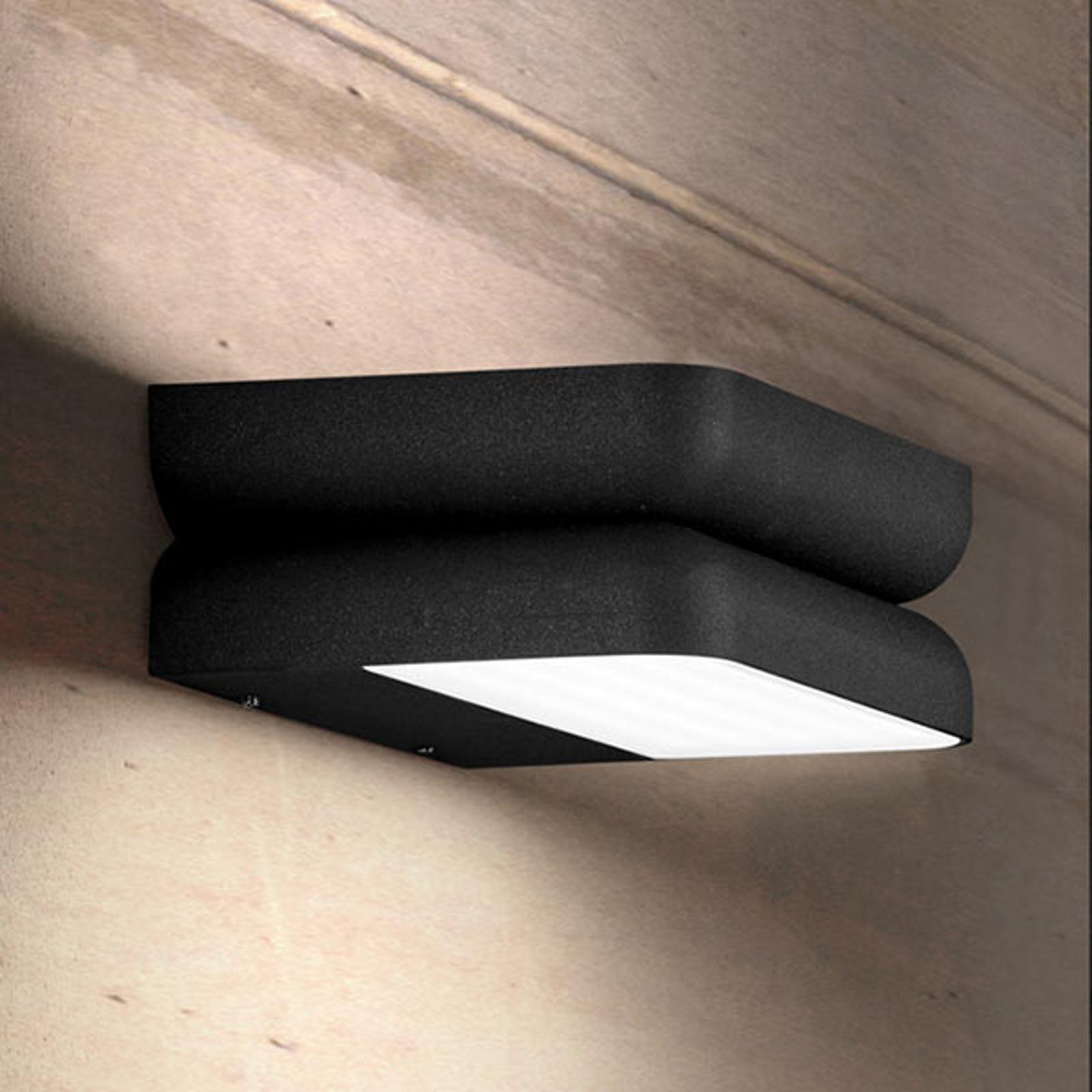 Graphitfarbene LED-Außenwandleuchte Snap