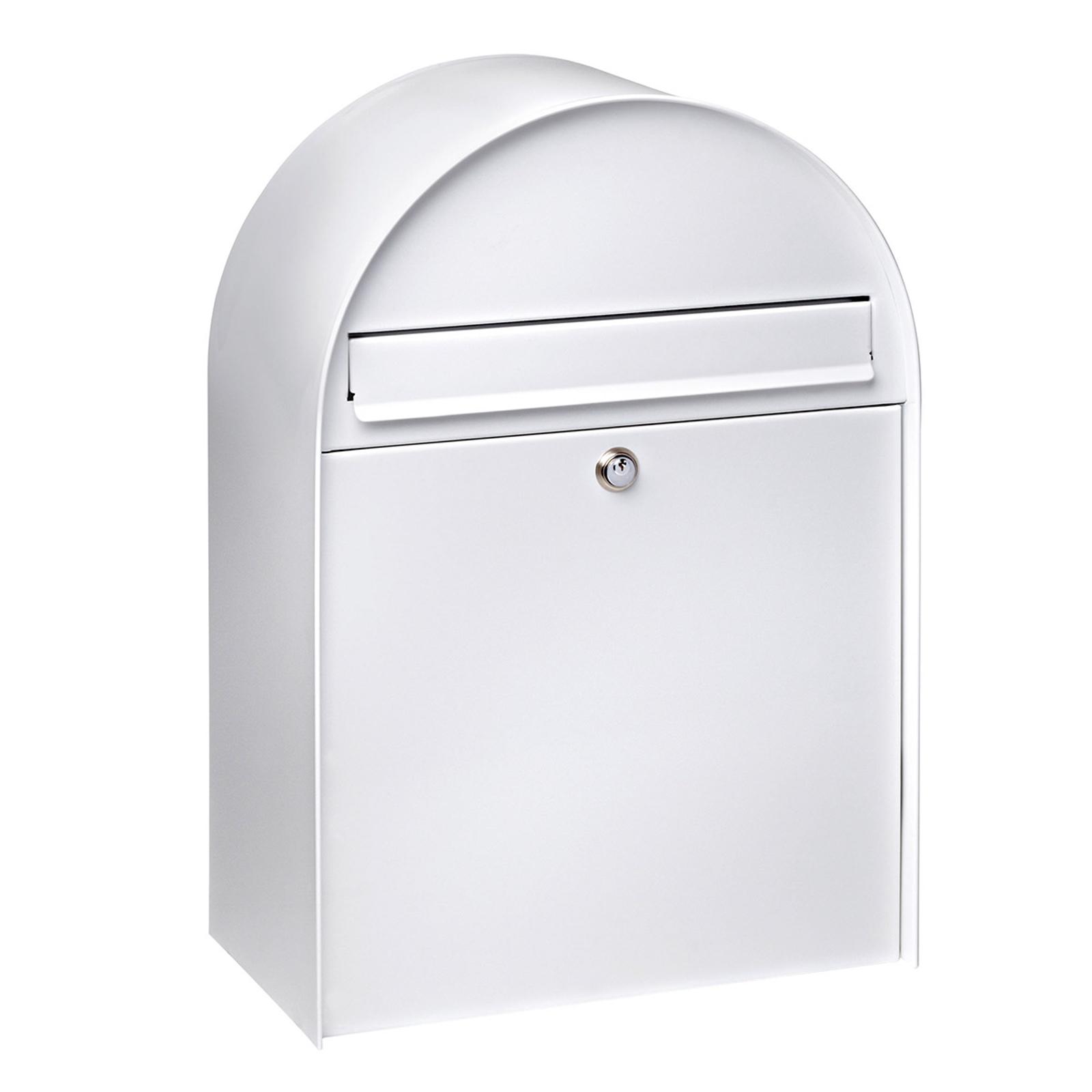 Tilava postilaatikko Nordic 680, valkoinen