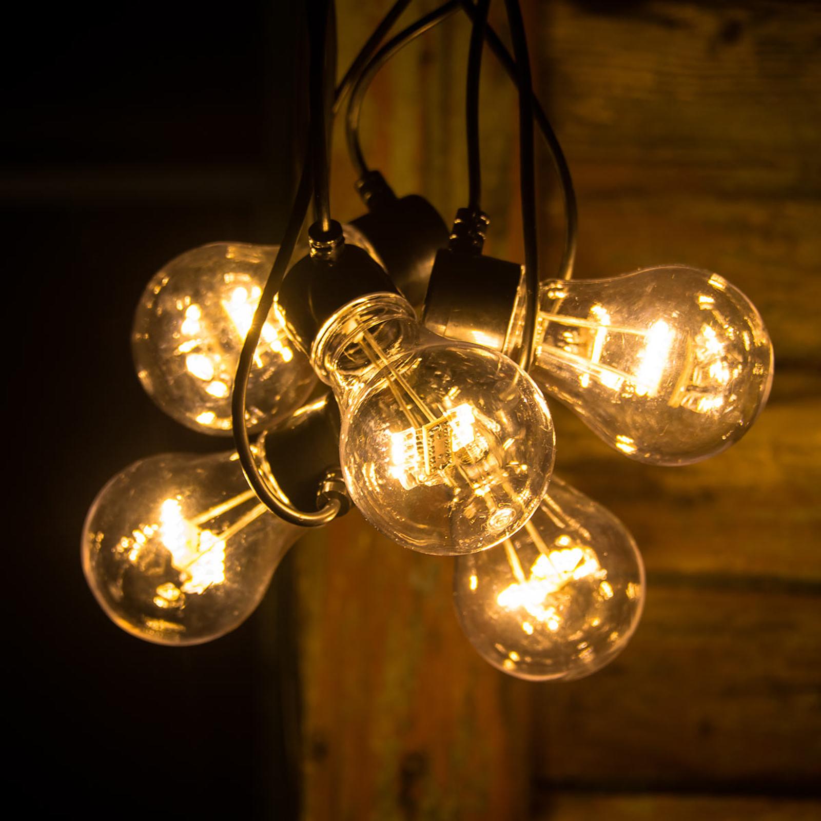 Guirlande LED filament ambre 5 lampes