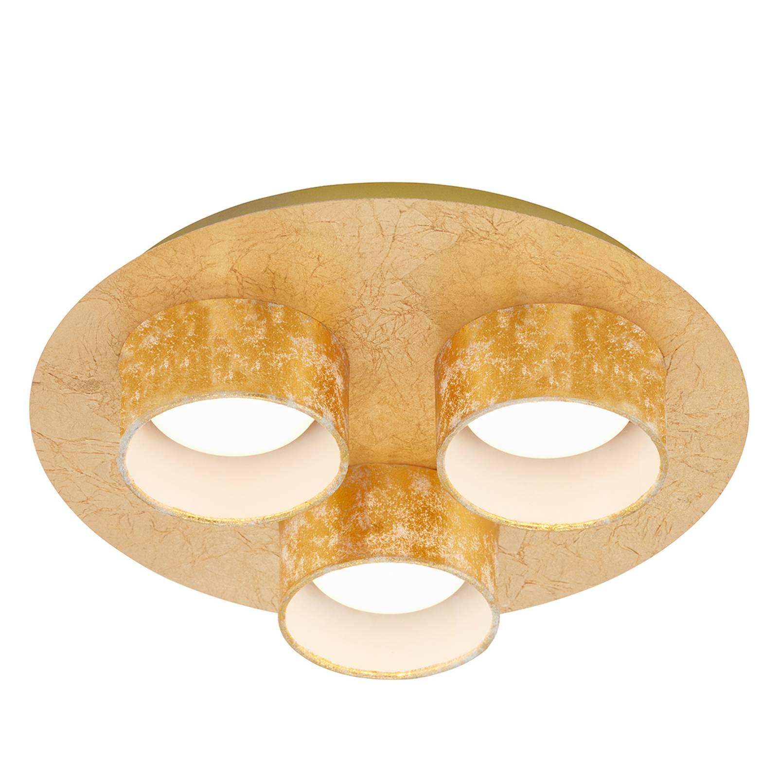 Lampa sufitowa LED Anna, 3-punktowa, złota