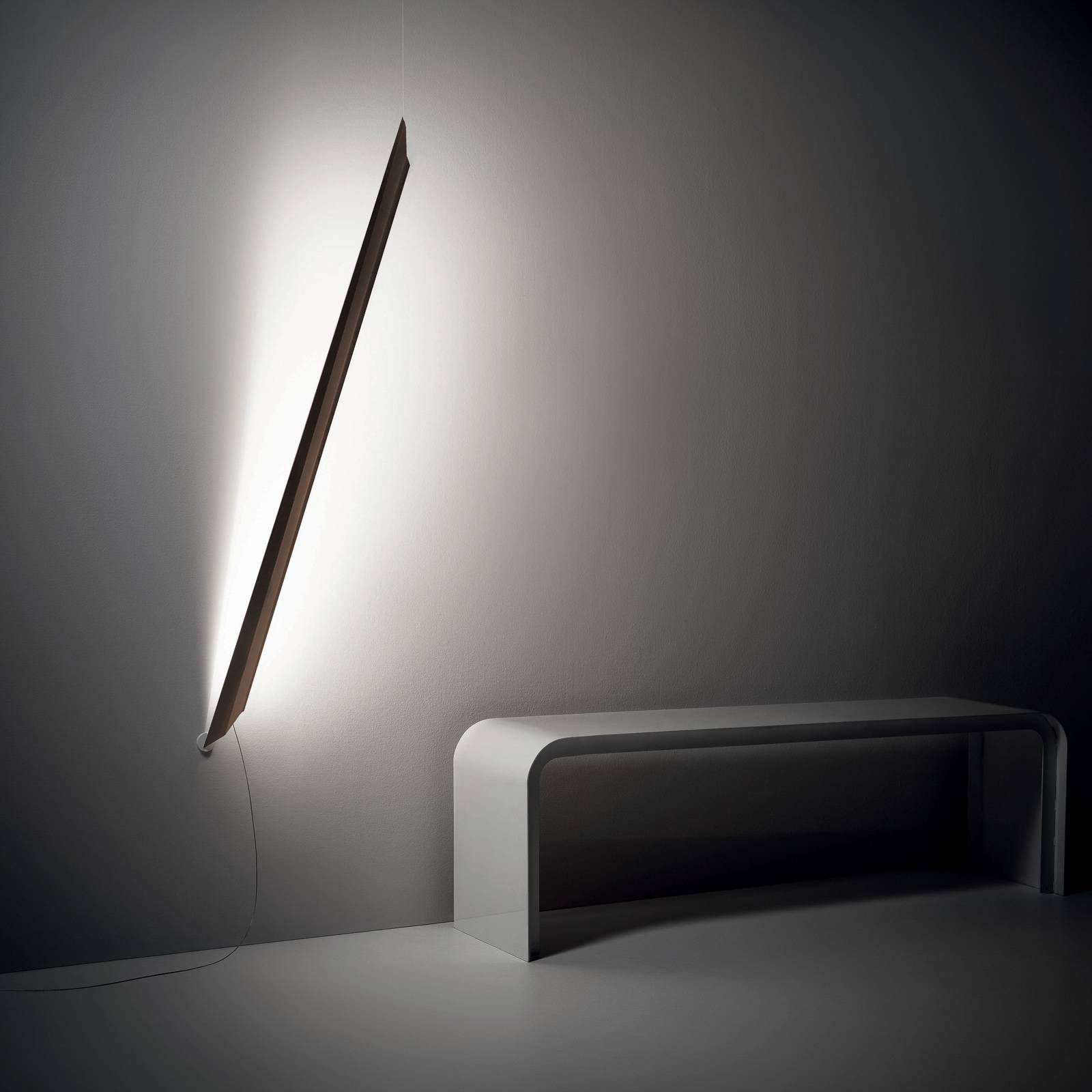 Knikerboker Schegge LED wandlamp, coffee
