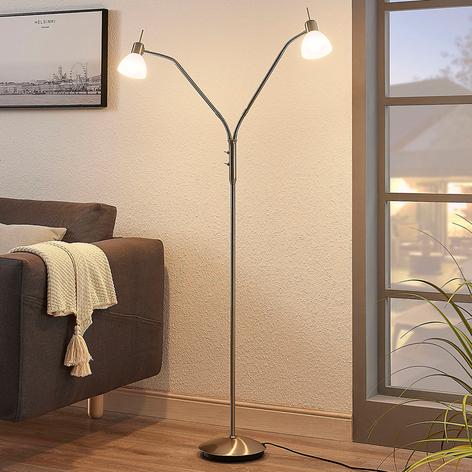Lampadaire LED Gwendolin à deux lampes