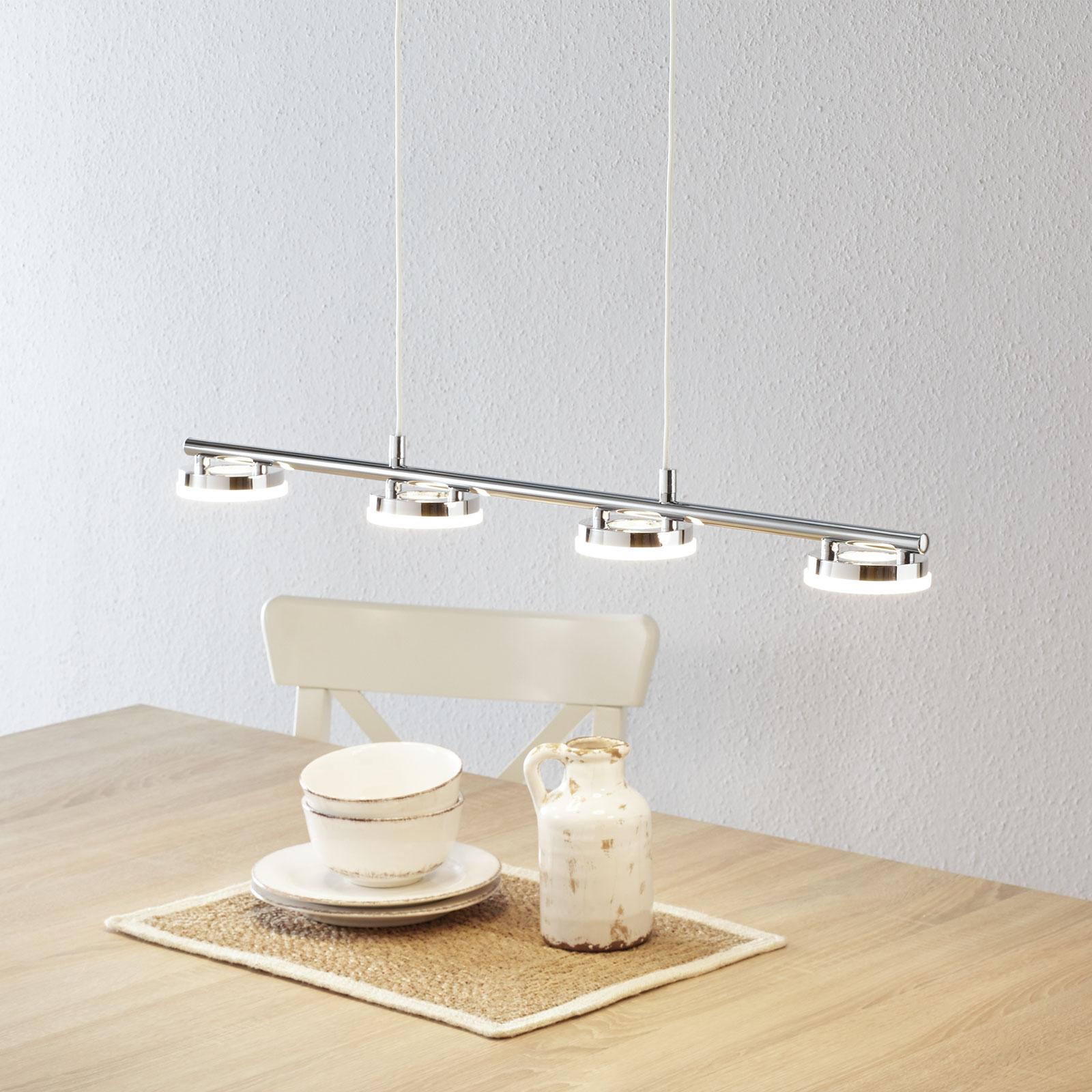Schitterende LED hanglamp Rennes, vier lichtbr.