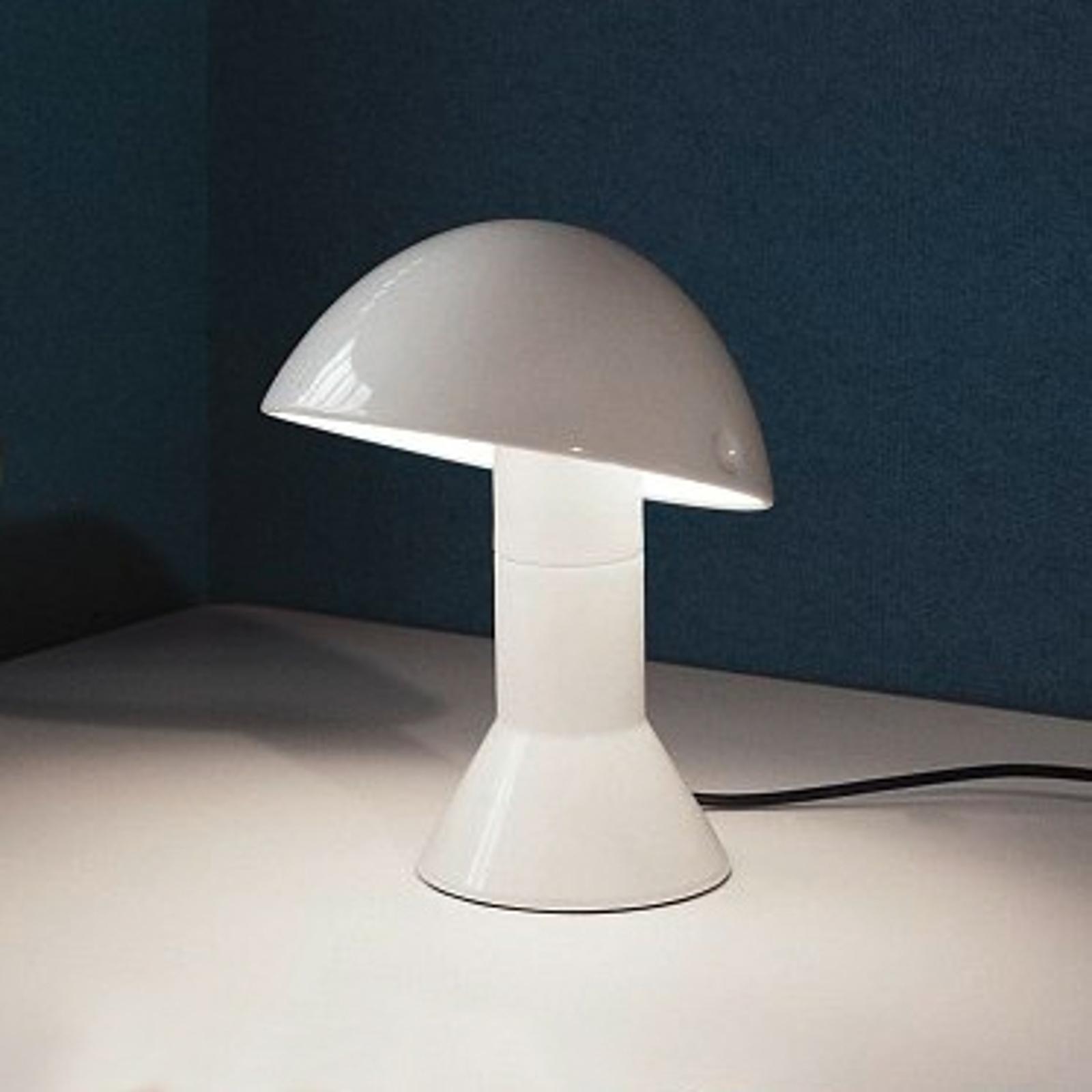 Lampe à poser design ELMETTO blanche
