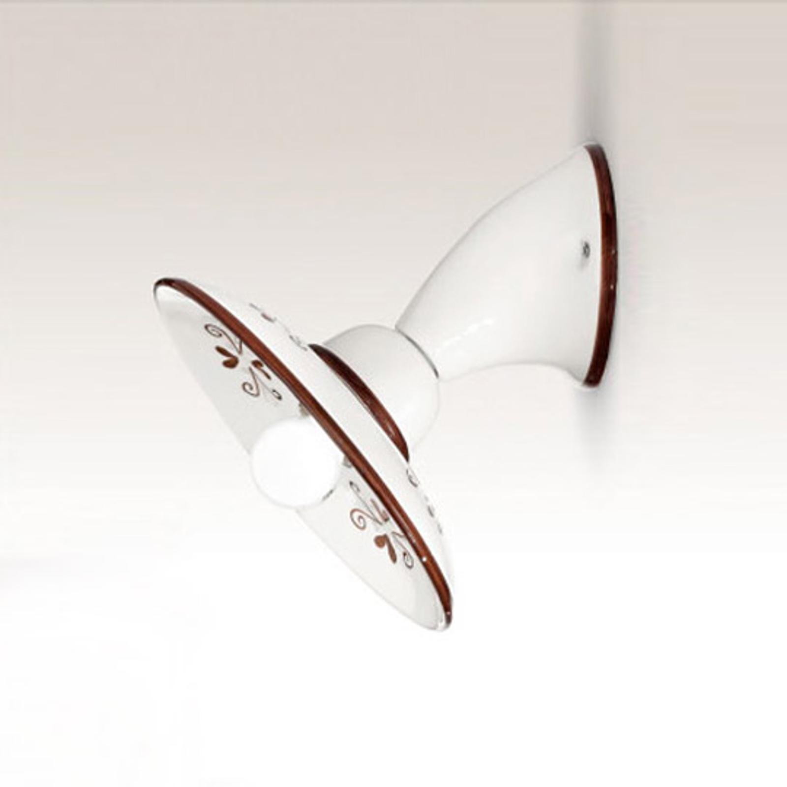 Vägglampa Bassano, italiensk stil, brun