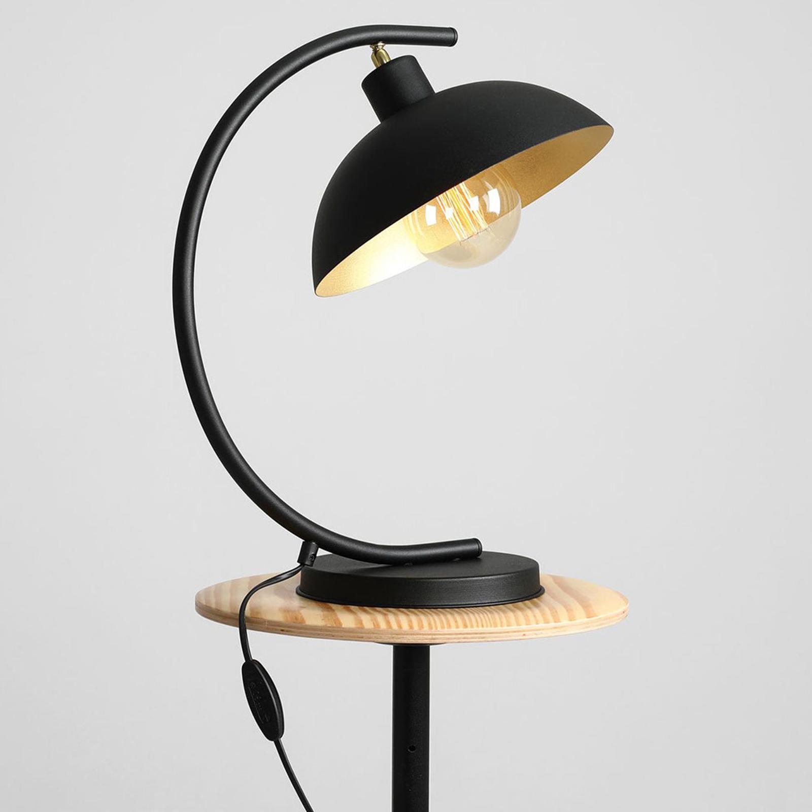 Stolná lampa 1036, jedno-plameňové, čierno-zlaté_1078012_1