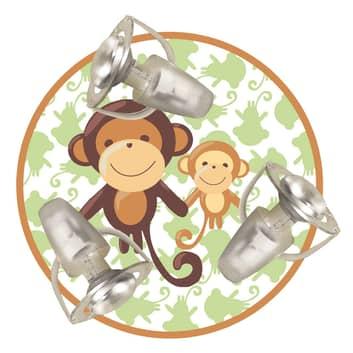 Deckenleuchte Affe mit drei Spots