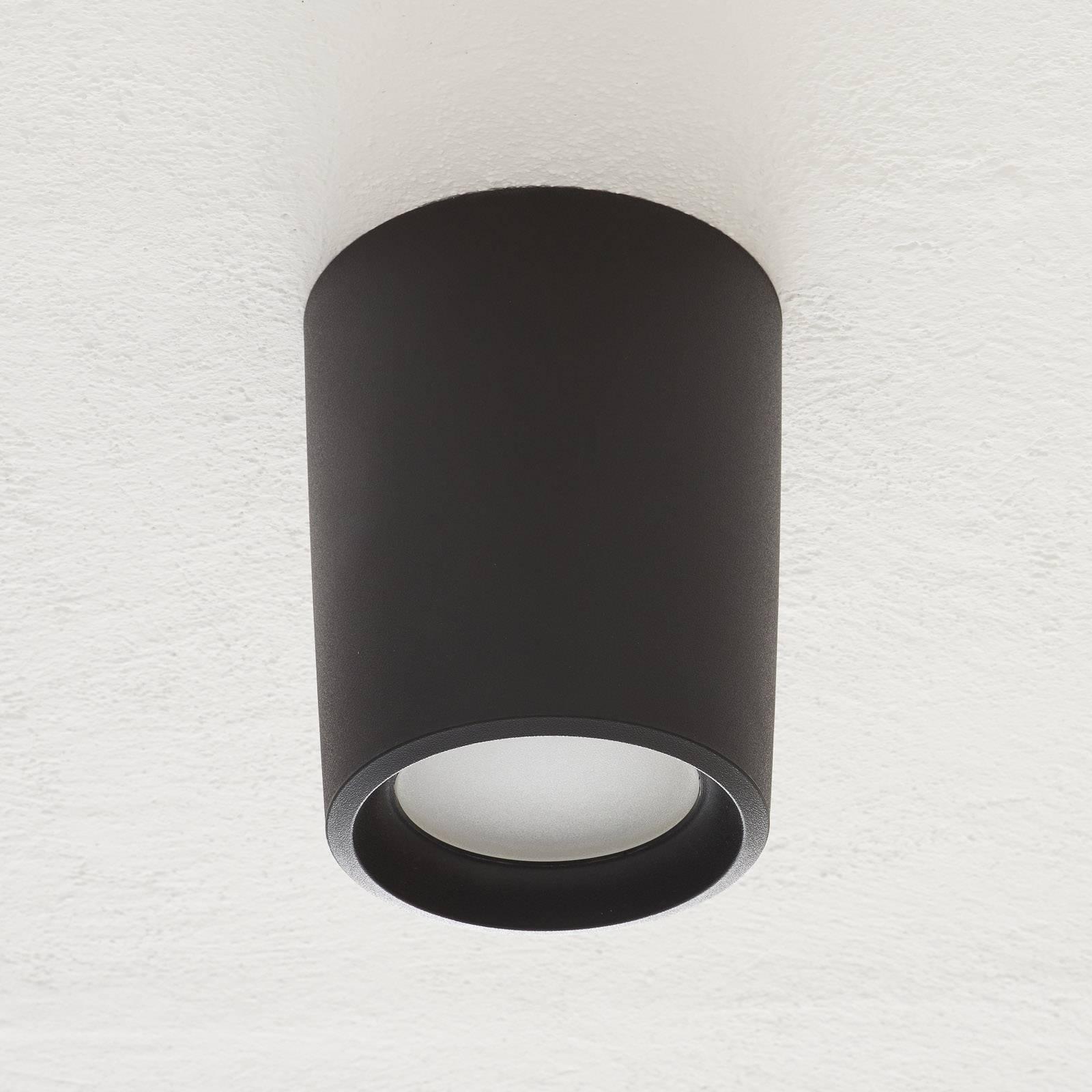 Downlight en saillie Livia Ø18cm 3000K noir/givré