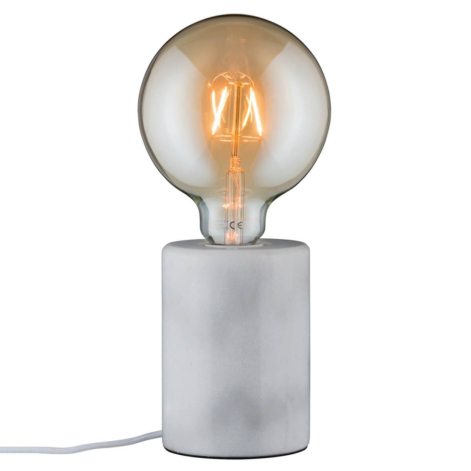 Witte puristische marmeren tafellamp Nordin