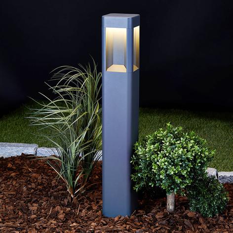 Bolardo luminoso Annika, aluminio, 80cm