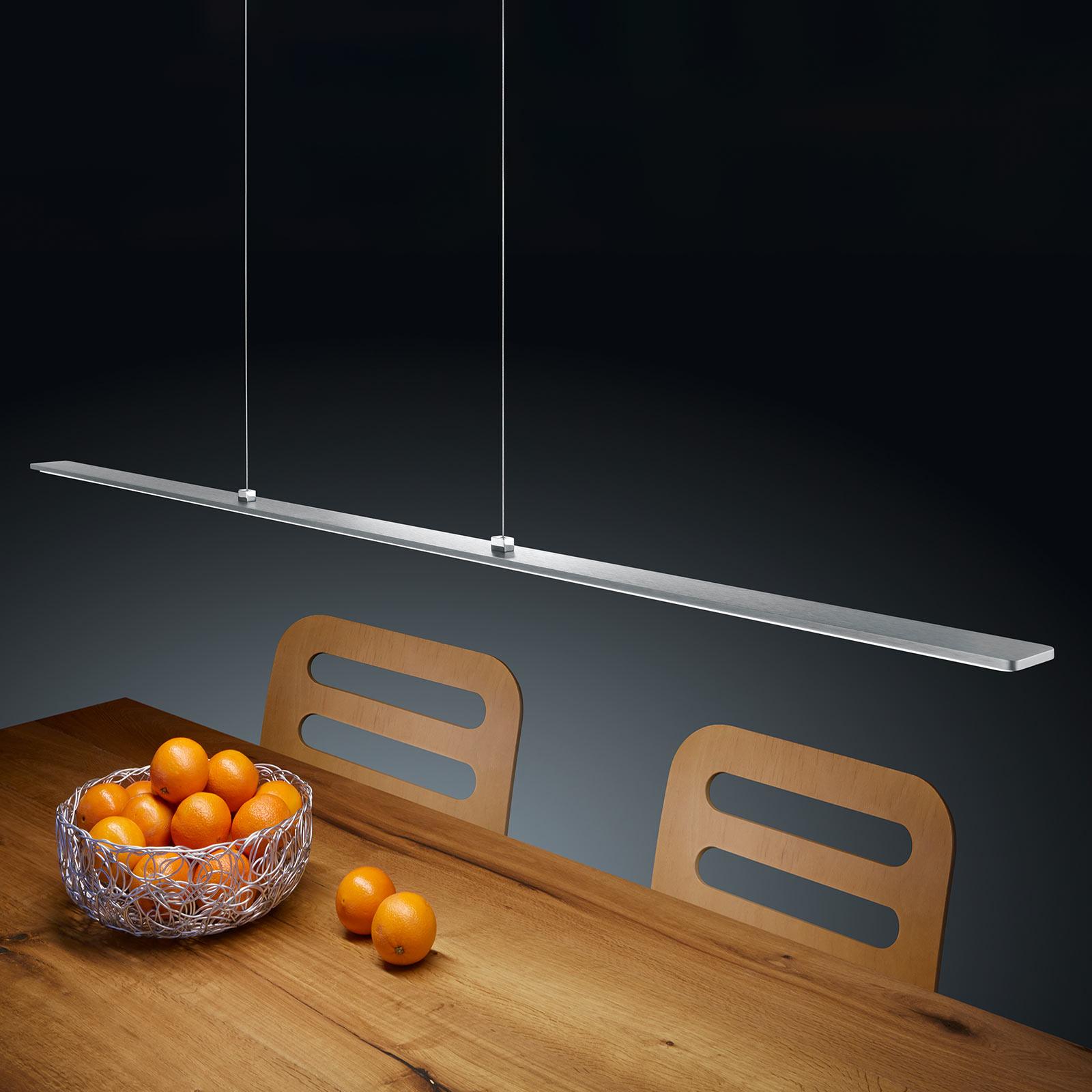Helestra Lexx LED hanglamp matnikkel EasyLift