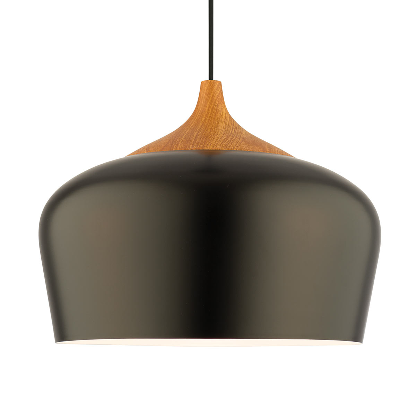 Voltige sort metalhængelampe