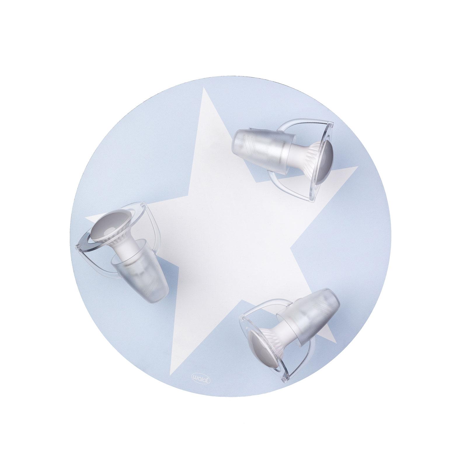 Plafondlamp ster in Lichtblauw