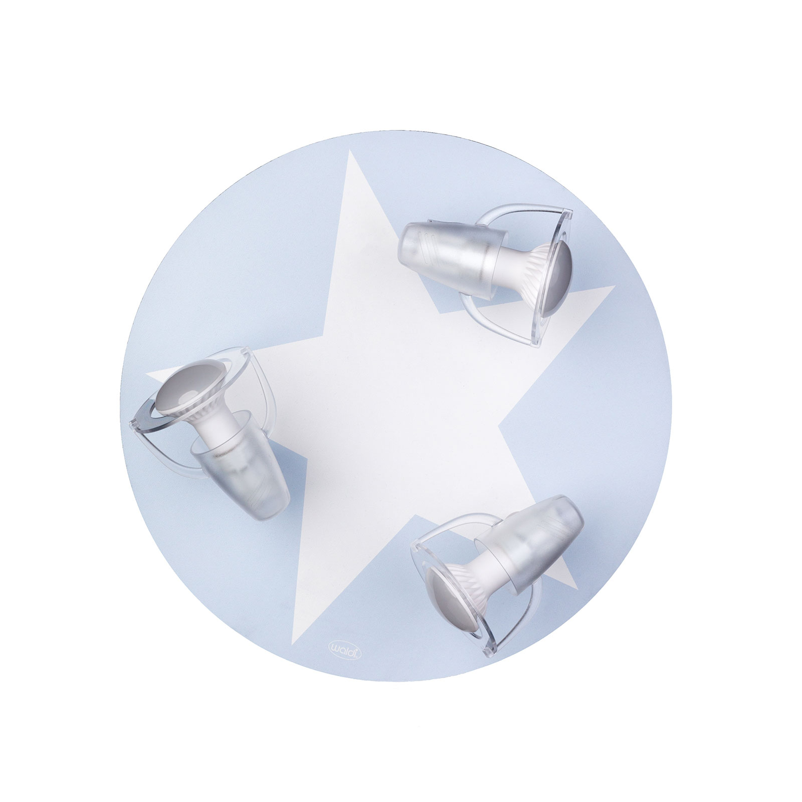 Plafonnier Étoile en bleu clair