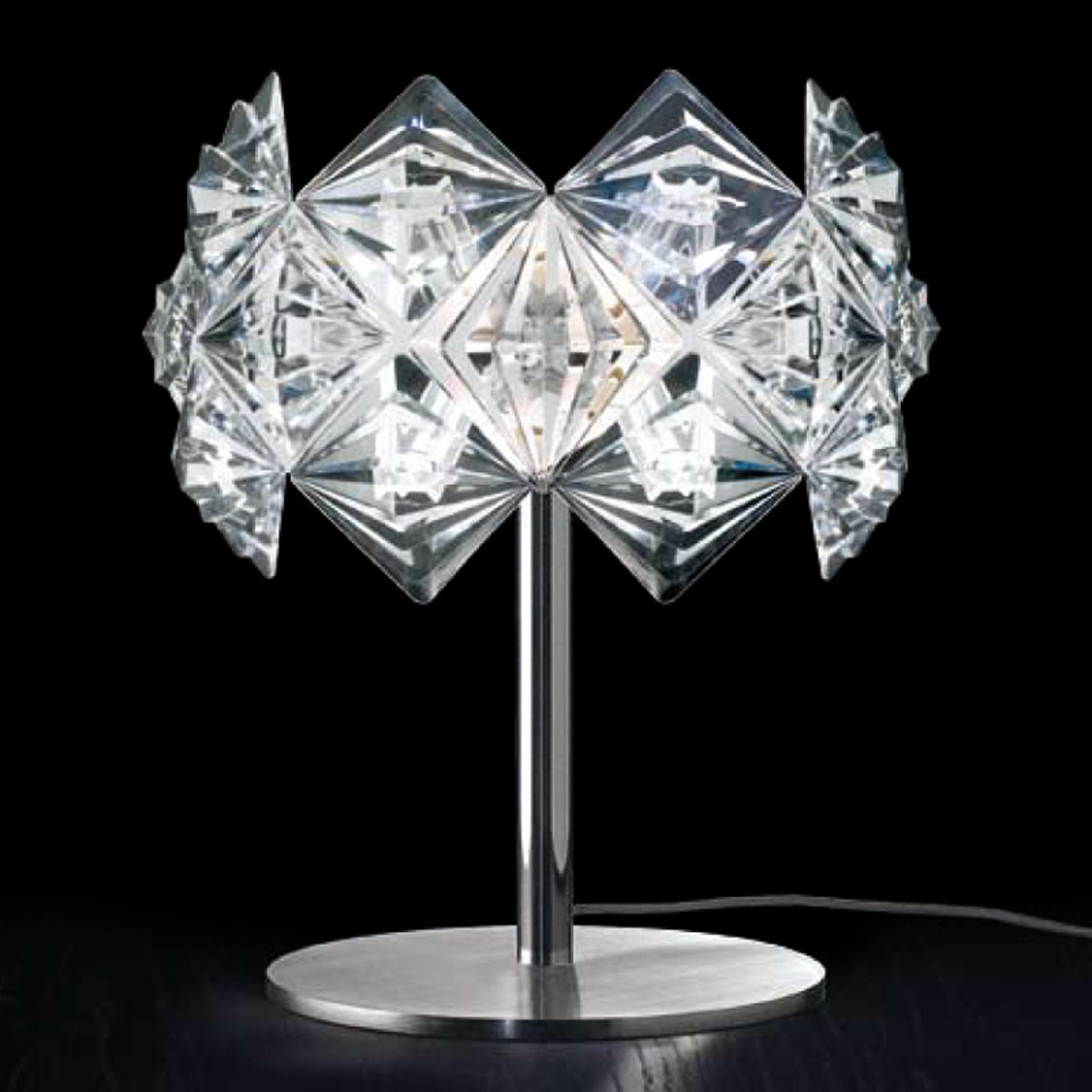 PRISMA tafellamp met schitterende kap