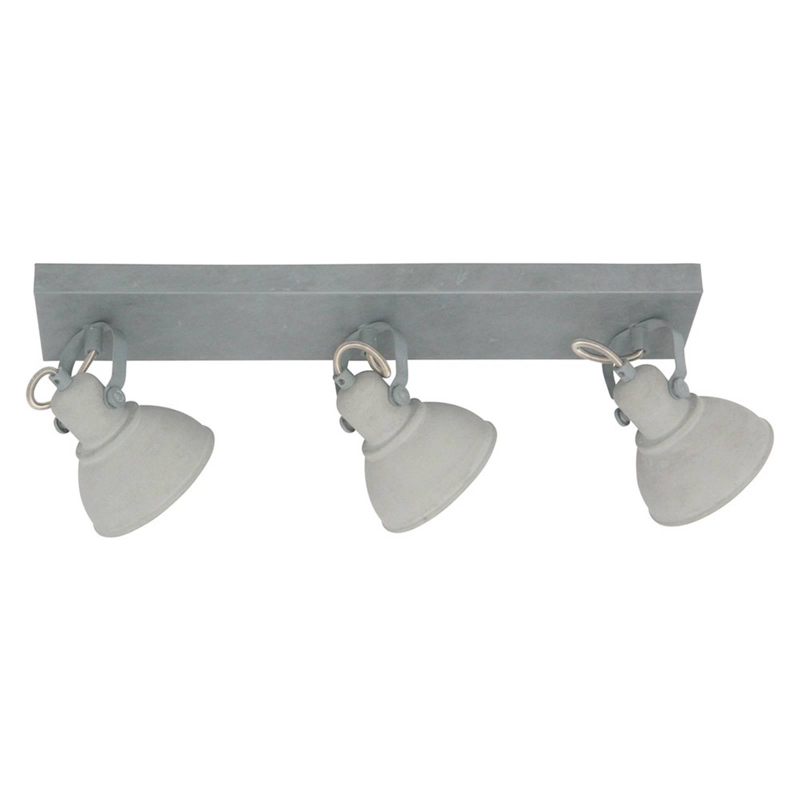 LED-Deckenstrahler Santo, dreiflammig grau