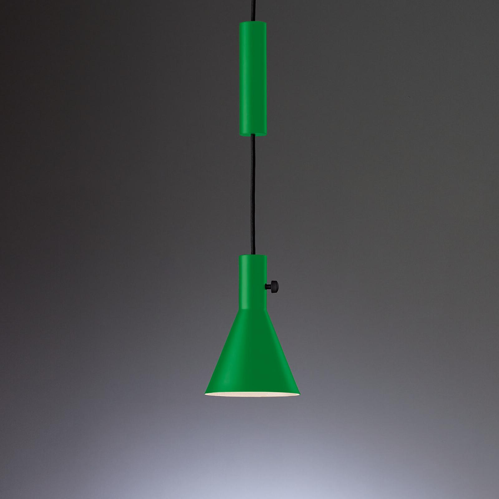 TECNOLUMEN Eleu - LED-Pendelleuchte, grün