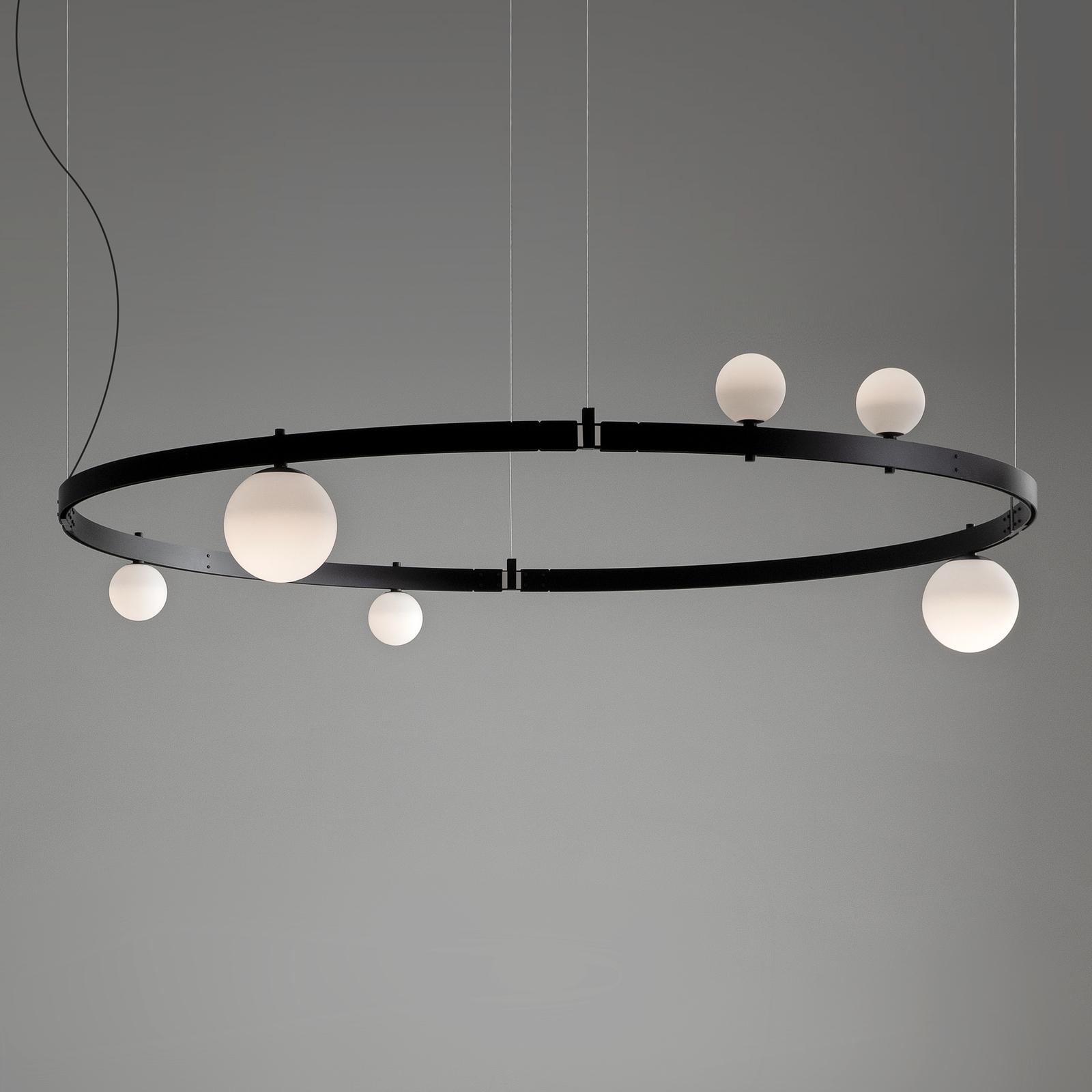 Karman Stant LED-Hängeleuchte schwarz Ø 189 cm