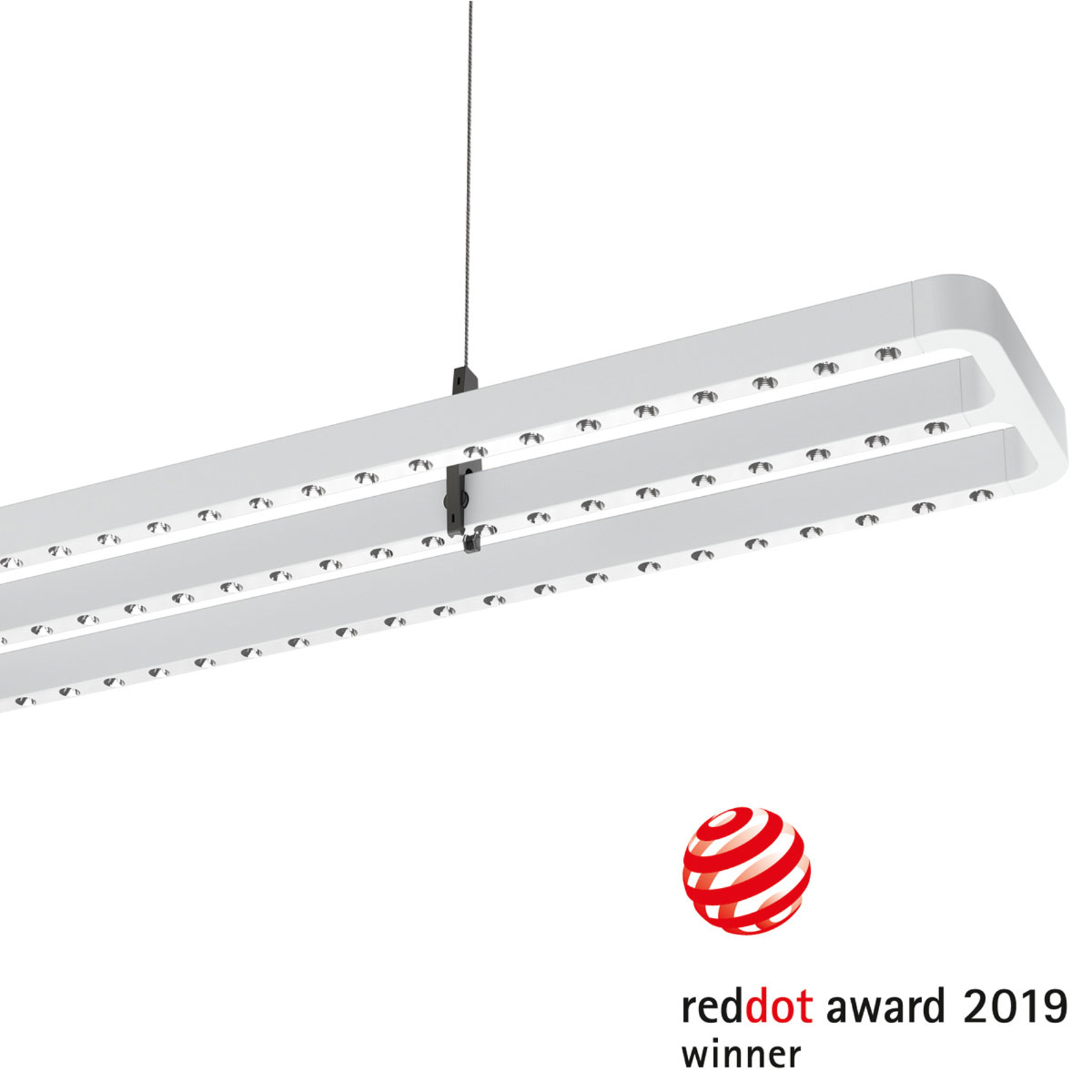 Suspension LED Small Line capteur, 126cm, blanche