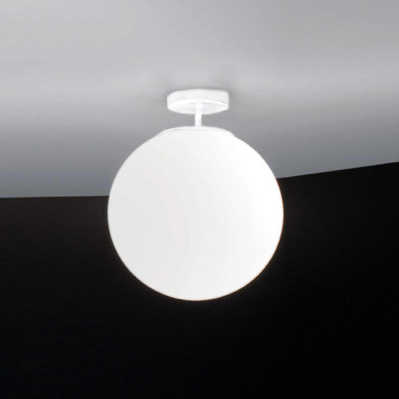 Glazen plafondlamp Sferis