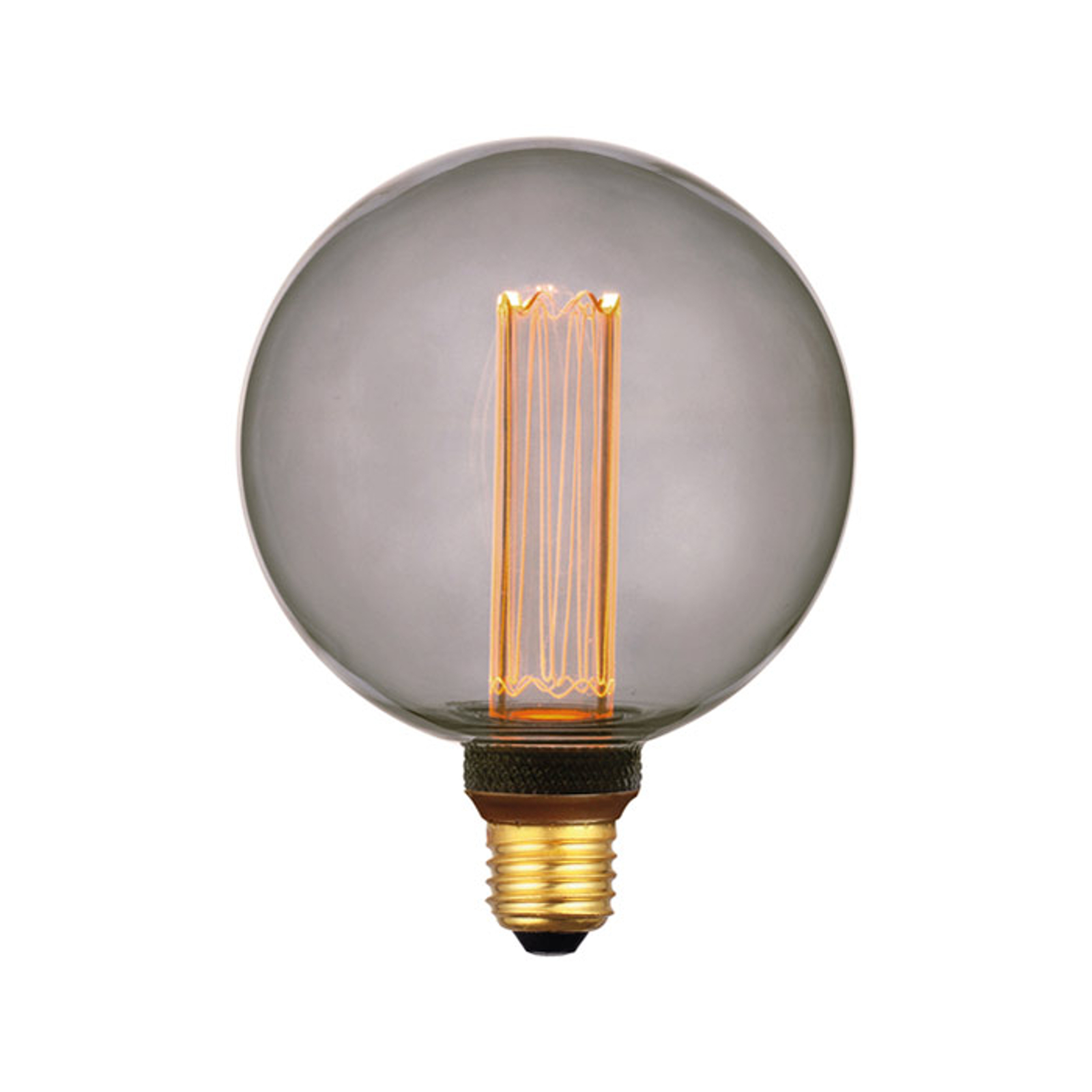 LED-globepære E27 5W, varmhvit, 3-trinns dim, røyk