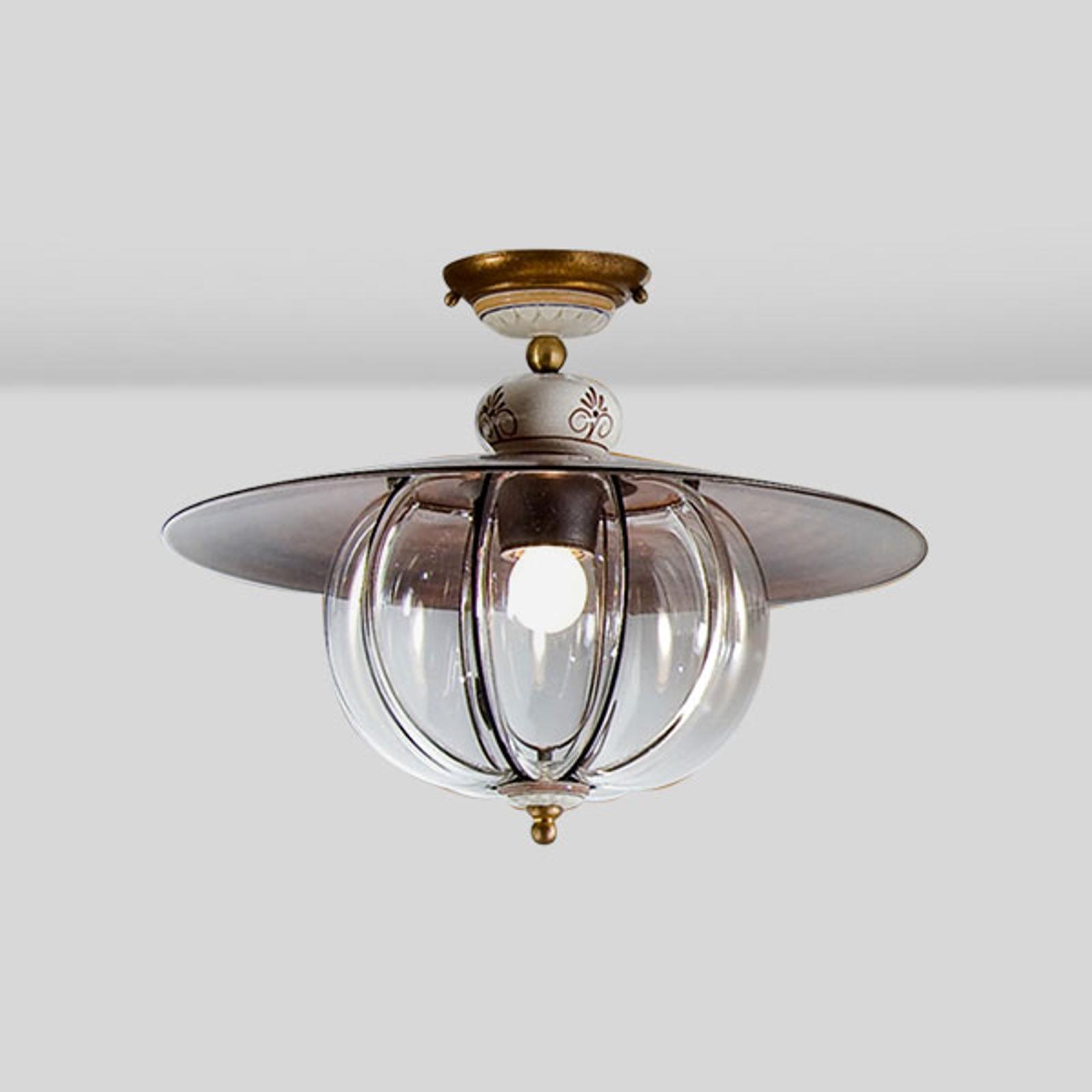 Handarbete - taklampa Lampara i lanthusstil