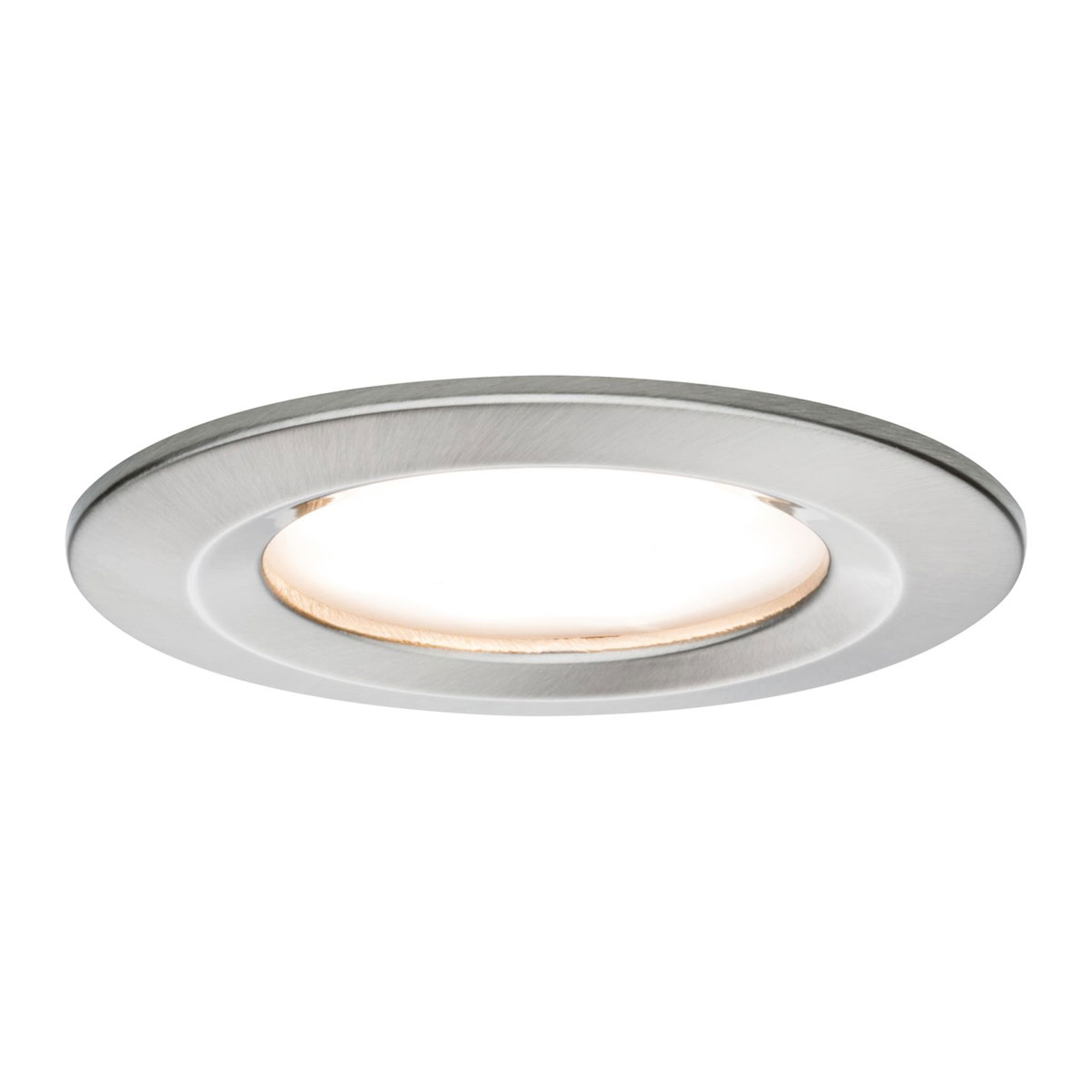 Paulmann 3er Set LED-Spot Slim Coin, Eisen
