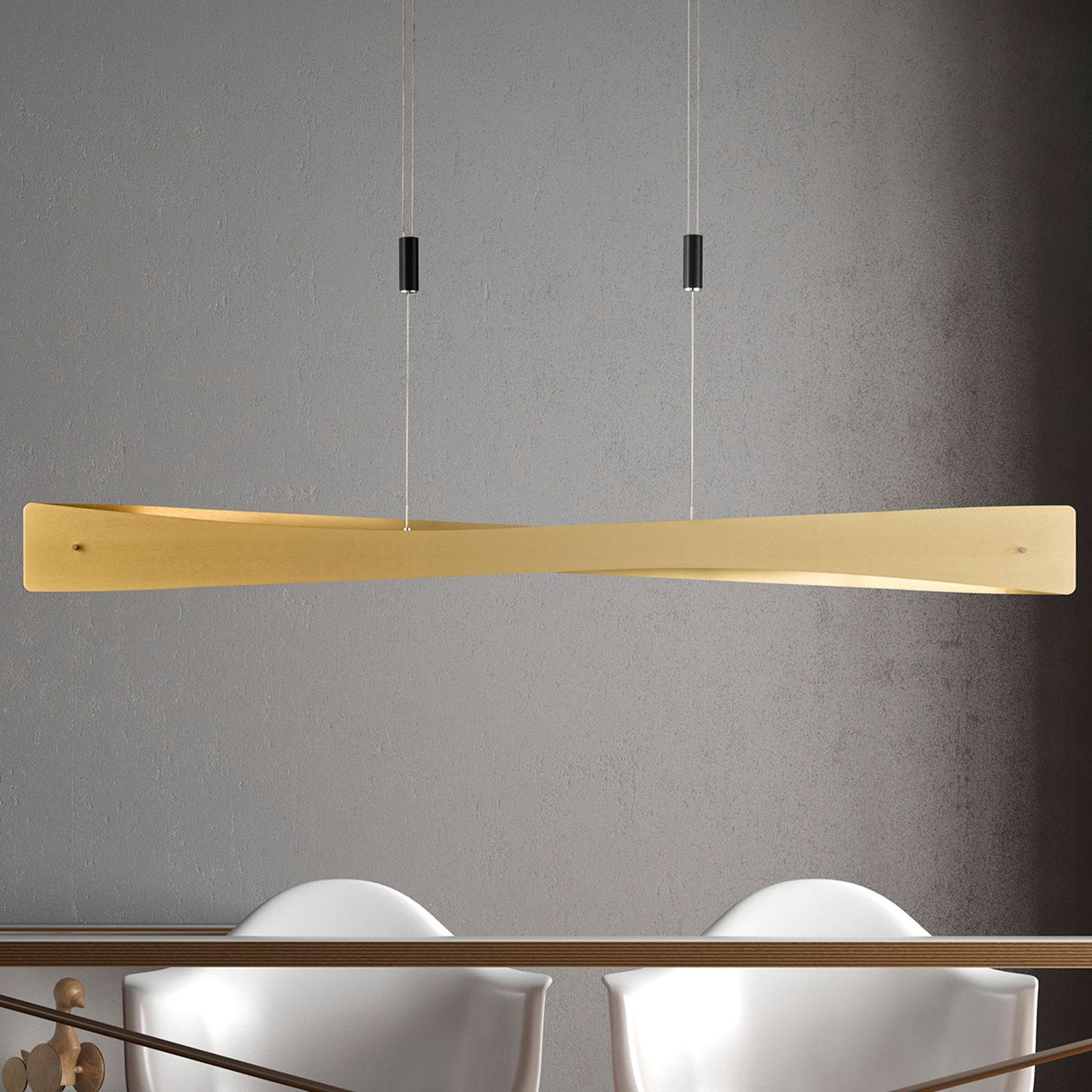 Lucande Lian lampa wisząca LED, mosiądz, czarna