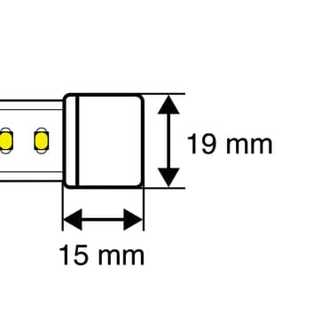 SLC eindkap voor LED strip 230V IP65
