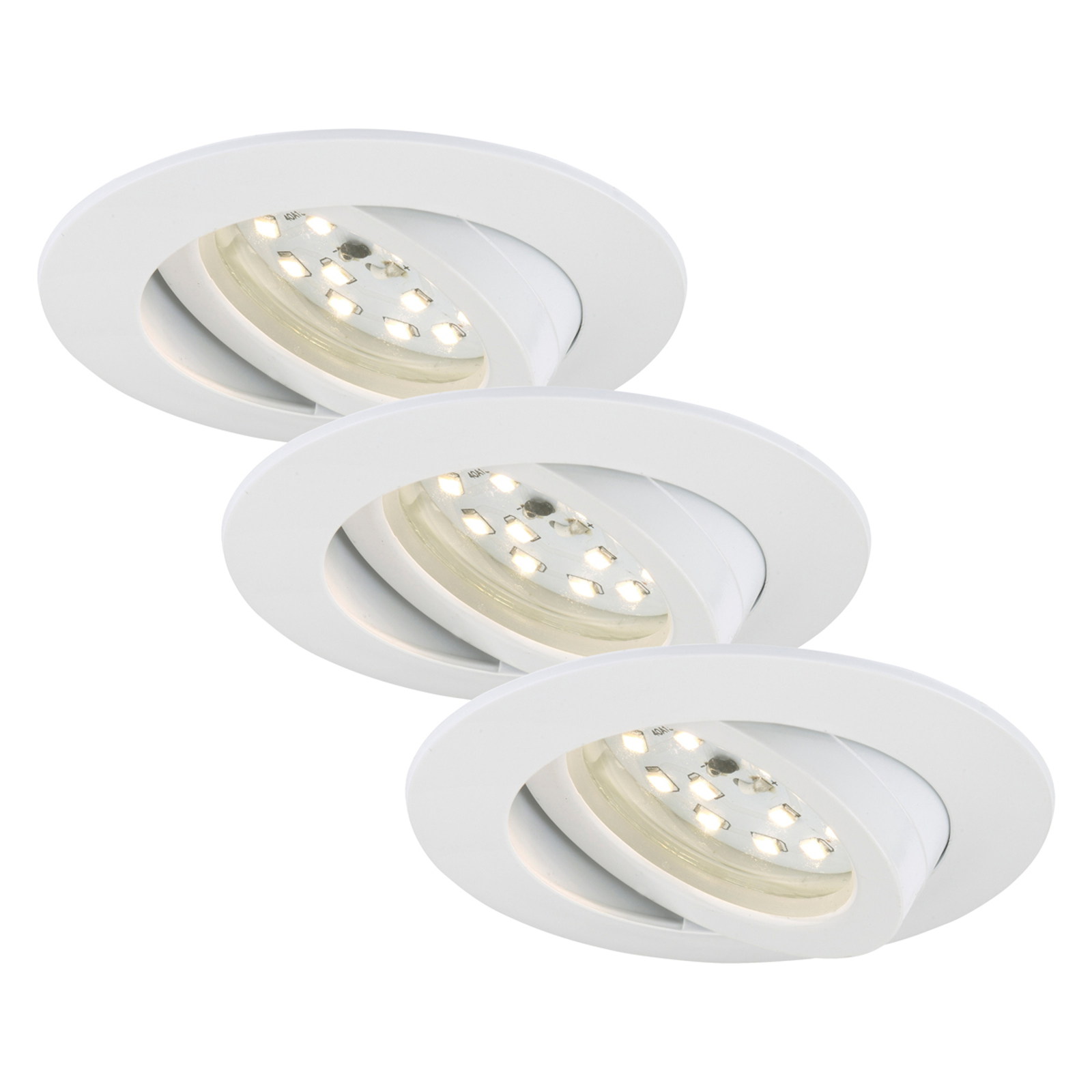 Pivotable LED recessed light Bert, set of three_1510328_1