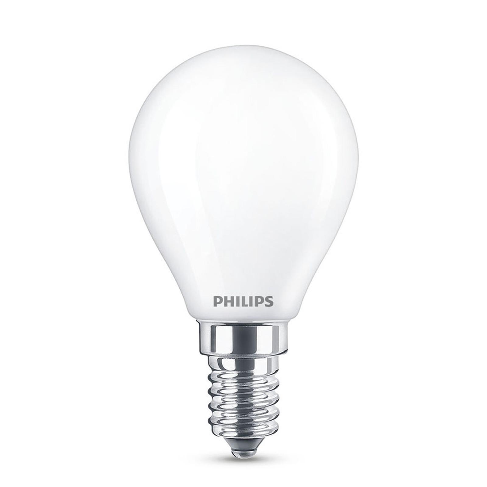 Philips LED Classic WarmGlow E14 P45 3,4W matt