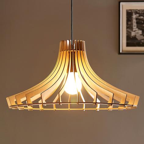 Lampada a sospensione di legno Bela, Ø 47 cm