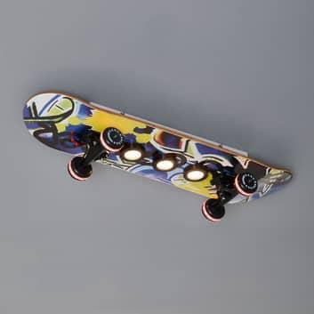 Skateboard-LED-kattovalaisin Easy Cruiser, graffi