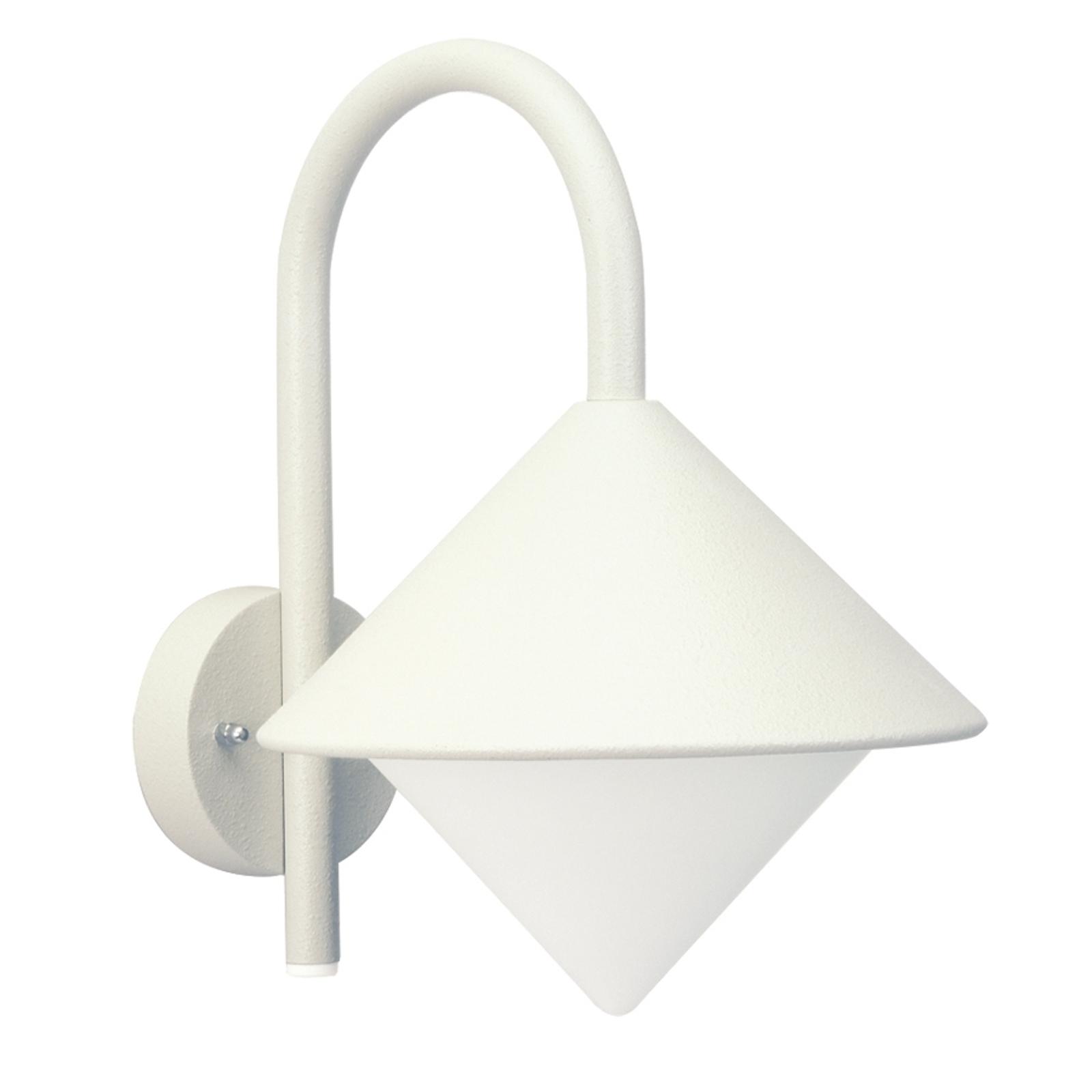 Zewnętrzna lampa ścienna Julieta biała