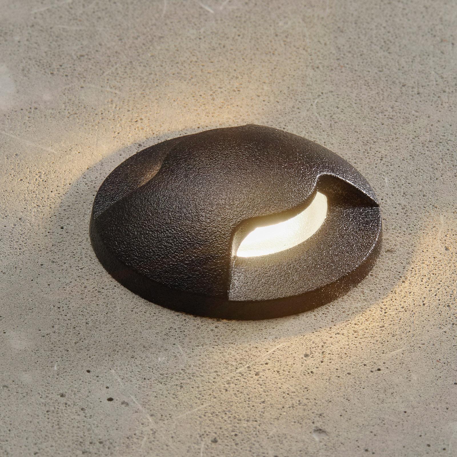 Lampe encastrée LED Aldo 2L noire/transp 3000K