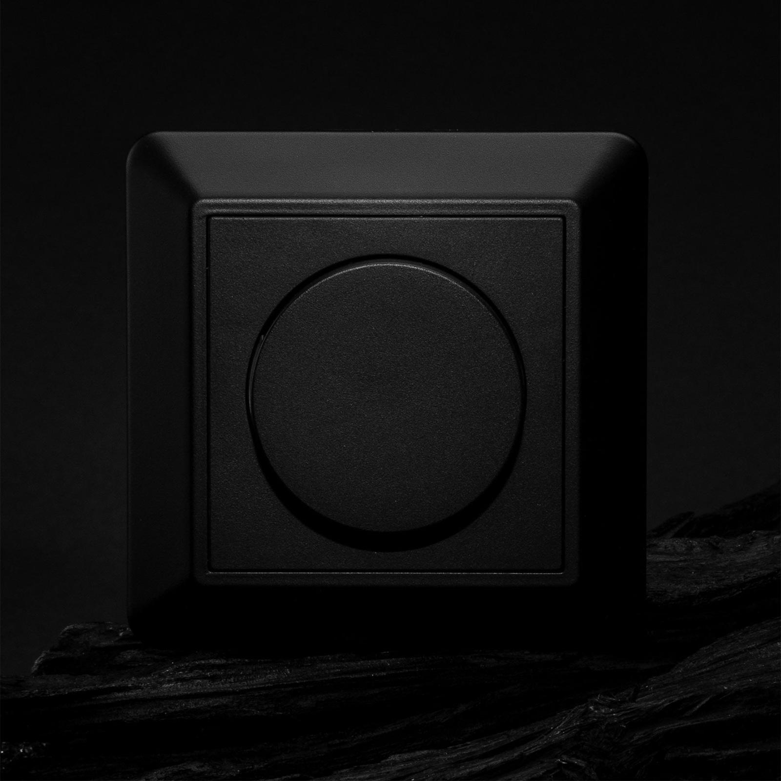 SLC Abdeckung für SmartOne AC Wanddimmer, schwarz
