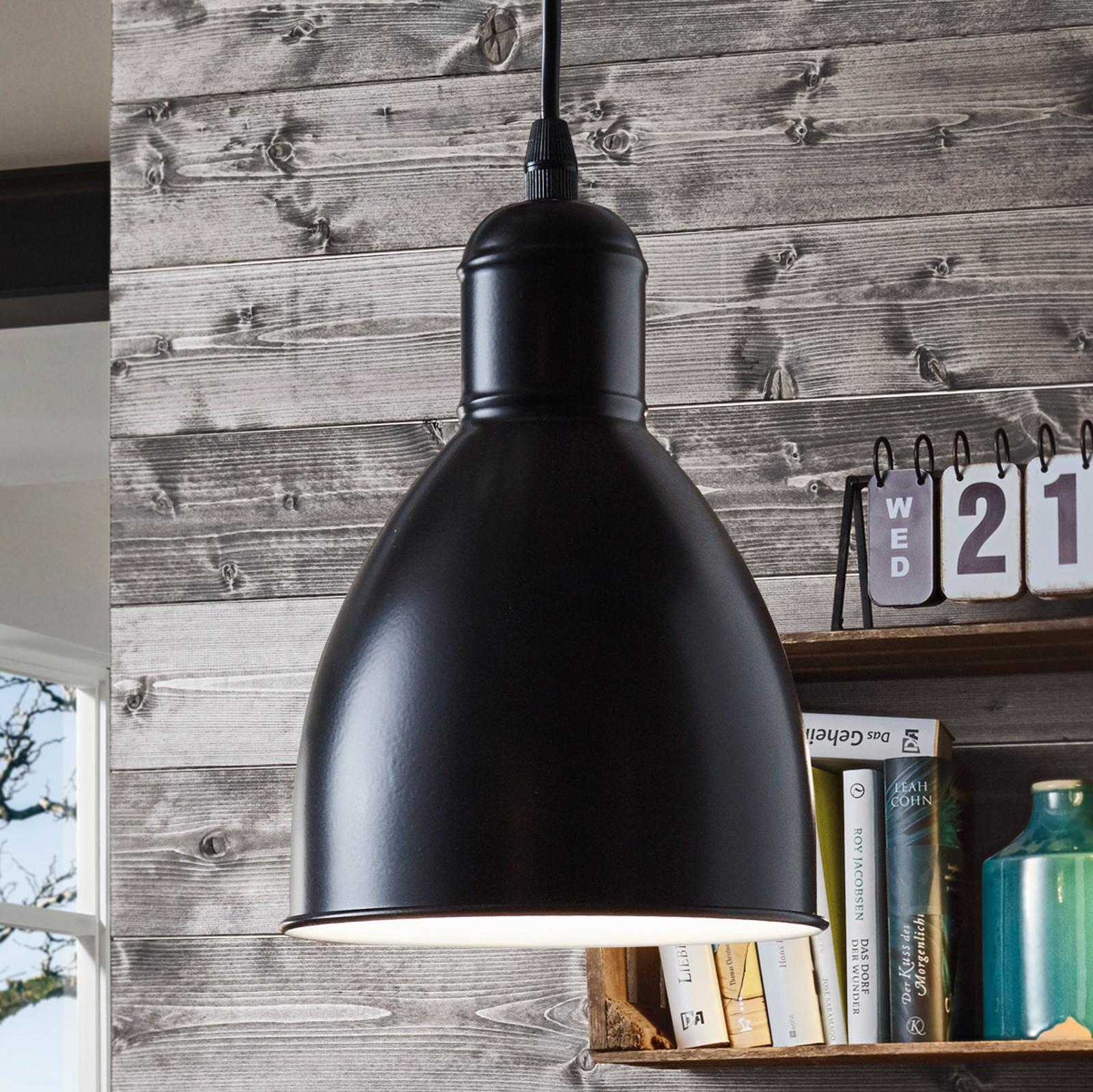 Lampa wisząca Priddy 1, 1-pkt., czarna