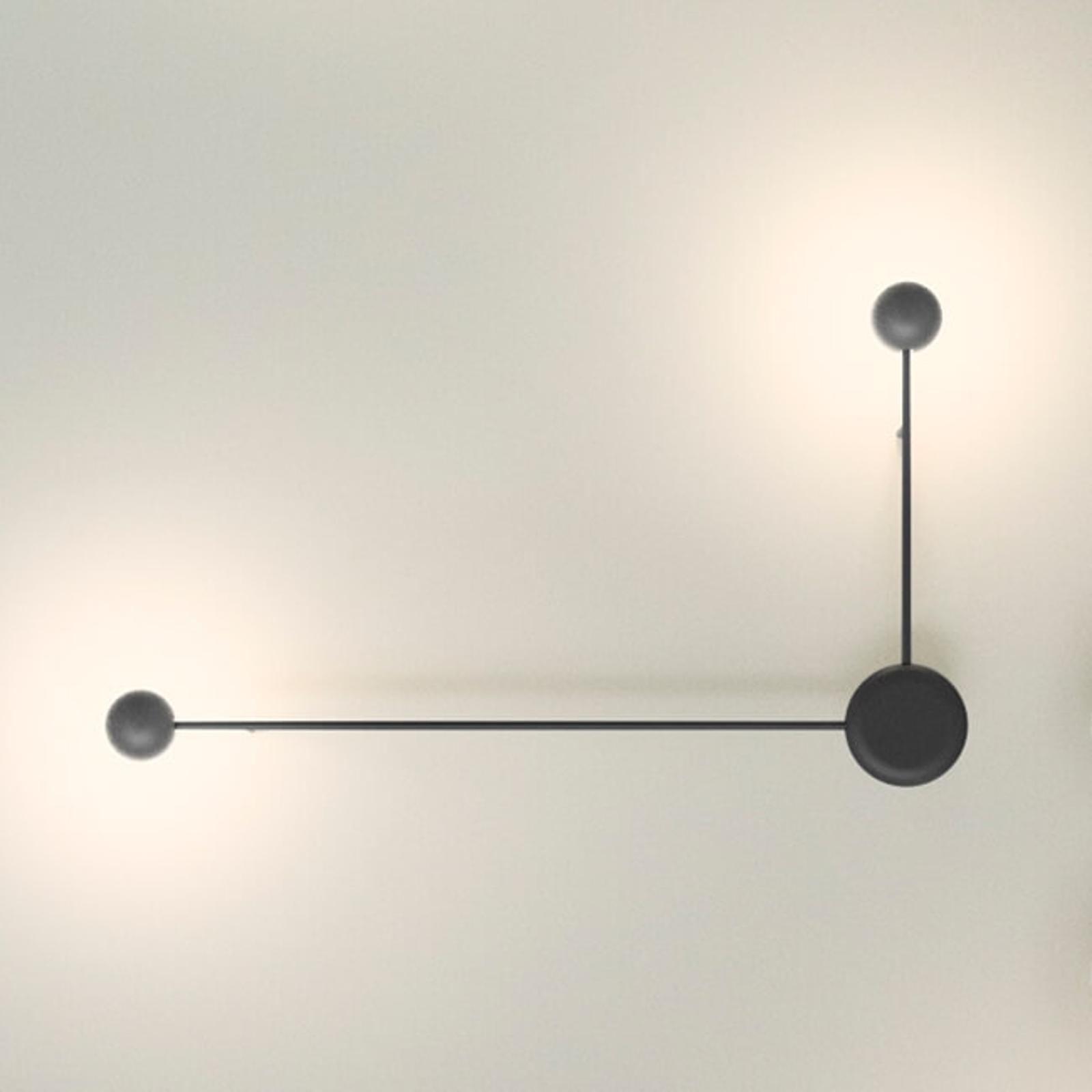 Vibia Pin - 2-flammige LED-Wandleuchte schwarz
