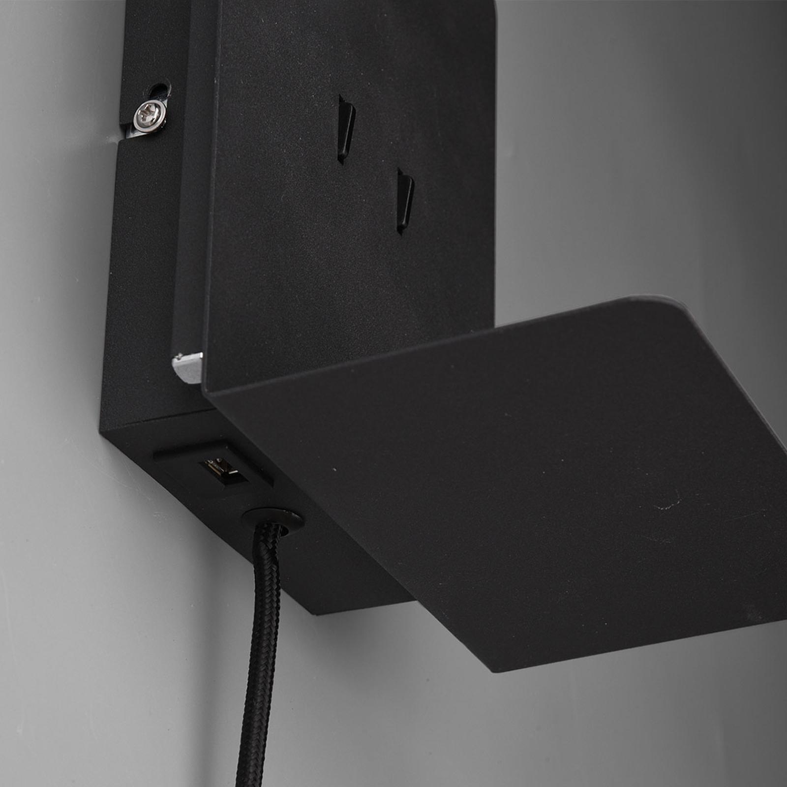 LED vägglampa Element med hylla, matt vit | Lamp24.se